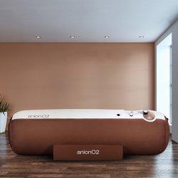 画像1: anionO2【1.23気圧】ソフト一体型・静音モデル家庭用酸素カプセル ベージュ&ブラウン