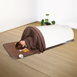 画像1: 【サウナキャンペーン】日本製・岩盤浴マットセット(岩盤浴マット+遠赤外線ドームサウナ)100V