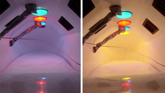 カラーセラピー用のライト