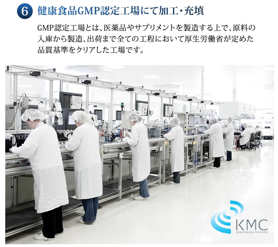 健康食品GMP認定工場にて加工・充填