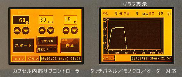 全てを自動制御/グラフ機能