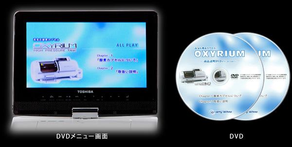 DVDメニュー画面と付属DVD