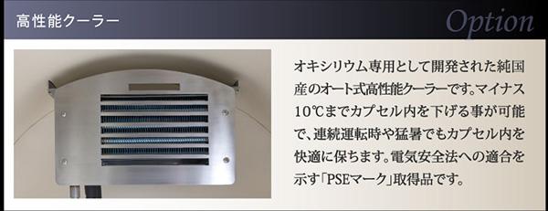 温調機能付き大型の高性能クーラー