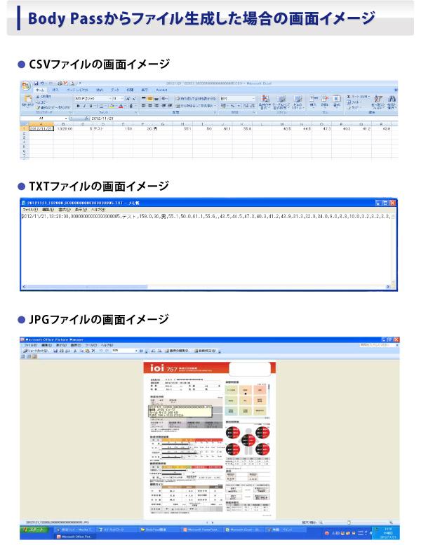 Body Passからファイル生成した場合の画面イメージ