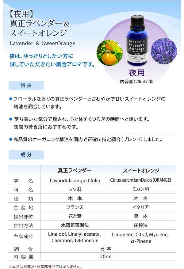 【夜用】真正ラベンダー&オレンジスイート
