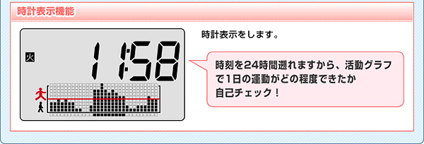 時計表示機能