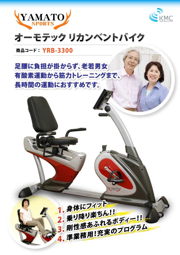 YAMATO SPORTS オーモテック リカンベントバイク YRB-3300